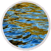 Copper Melody Round Beach Towel