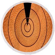 Copper Panel Abstract Round Beach Towel