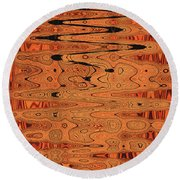 Copper Plates Double Abstract Round Beach Towel