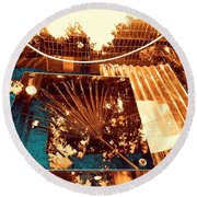 Copper Reflections Round Beach Towel