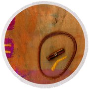 Copper Ridges Round Beach Towel