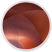 Coral Arched Ceiling Round Beach Towel