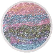 Coral Blues  Round Beach Towel