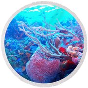 Coral Candy Round Beach Towel
