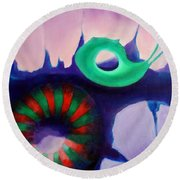 Coral Cavern 1.0 Round Beach Towel