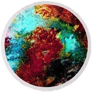 Coral Reef Impression 15 Round Beach Towel