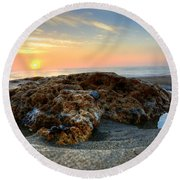Coral Rock Round Beach Towel