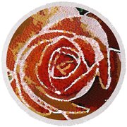 Coral Rose In The Mix Round Beach Towel
