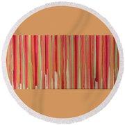 Coral Stripe  Round Beach Towel