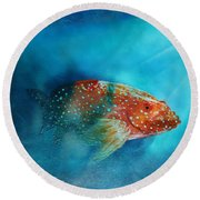 Coral Trout Round Beach Towel