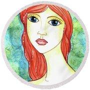 Coralia, The Mermaid Round Beach Towel