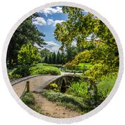 Corbel Arch Bridge Japanese Garden Maymont Round Beach Towel