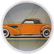 Cord 810 1937 Painting Round Beach Towel