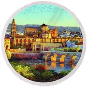 Cordoba Mosque Cathedral Mezquita Round Beach Towel