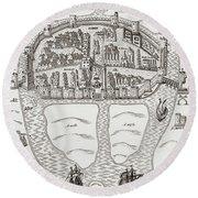 Cork, County Cork, Ireland In 1633 Round Beach Towel