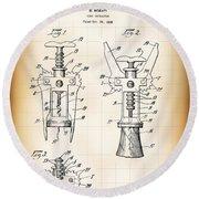 Cork Extractor Patent  1930 Round Beach Towel
