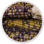 Corn Kernals Round Beach Towel