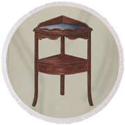 Corner Wash-stand Round Beach Towel