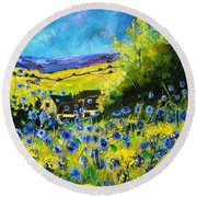 Cornflowers In Ver Round Beach Towel