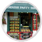 Cornish Pasty Shop Round Beach Towel