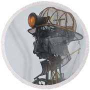 Cornwall Man Engine Round Beach Towel