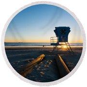 Coronado Lifeguard Station Round Beach Towel