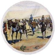 Coronados March, 1540 Round Beach Towel