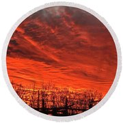 Corral Sunset Round Beach Towel