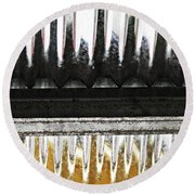 Corrugated Metal Abstract 8                              Round Beach Towel
