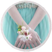 Corsage Round Beach Towel by Rod Sterling