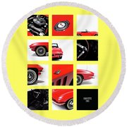 Corvette 1965 Round Beach Towel