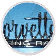 Corvette Sting Ray Round Beach Towel