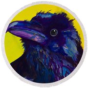 Corvus Round Beach Towel