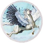 Cory Pegasus Round Beach Towel