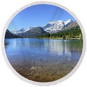 Cosley Lake Outlet - Glacier National Park Round Beach Towel