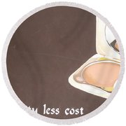 Cosmetics Advert  Round Beach Towel