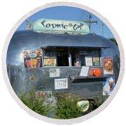 Cosmic Cafe Round Beach Towel