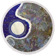 Cosmic Dust Round Beach Towel