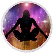 Cosmic Enlightenment... Round Beach Towel