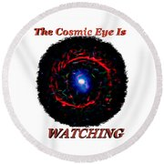 Cosmic Eye 2 Round Beach Towel