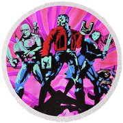 Cosmic Guardians Of The Galaxy 2 Round Beach Towel