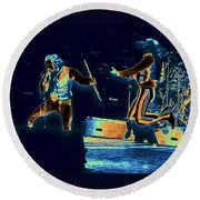 Cosmic Ian And Leaping Martin Round Beach Towel
