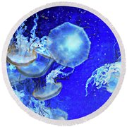 Cosmic Jellies Round Beach Towel