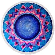 Cosmic Mandala  Round Beach Towel