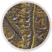 Cosmic Patterns - Hoarfrost Round Beach Towel