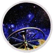 Cosmic Wheel Round Beach Towel