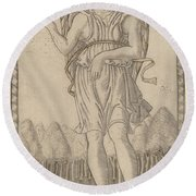 Cosmico (genius Of The World) Round Beach Towel