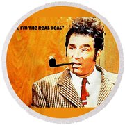 Cosmo Kramer The Real Deal Round Beach Towel
