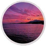 Costa Del Sol Sunset In Marbella Round Beach Towel