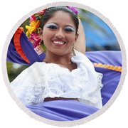 Costa Maya Dancer Round Beach Towel